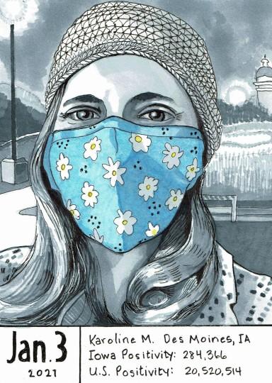 Karoline M. - Masked Portrait