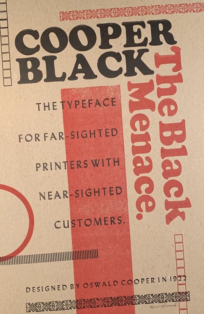 Cooper Black Poster letterpress lettering design typography vandercook woodtype