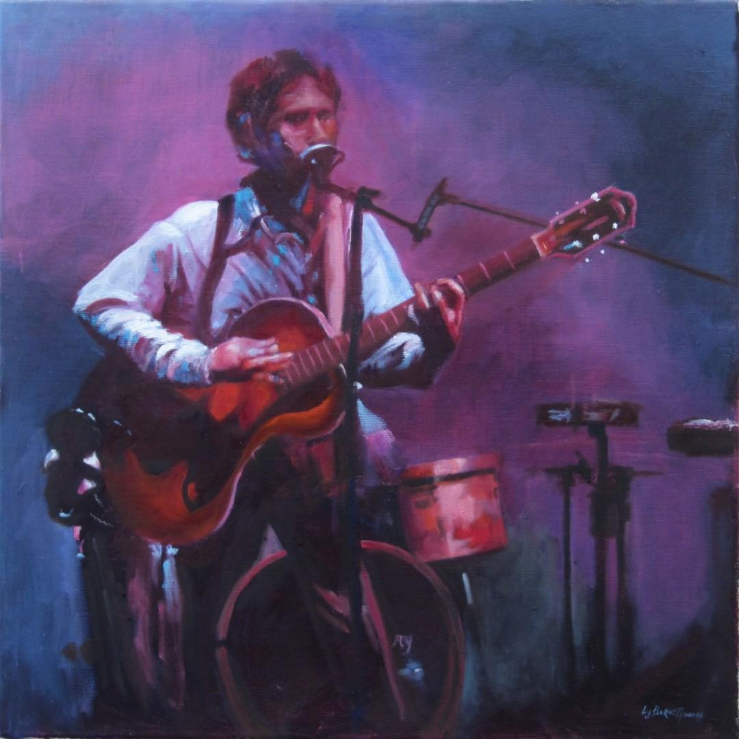 Solo - artwork by Lenore Barnett:  Music, Realism, Oil, Canvas