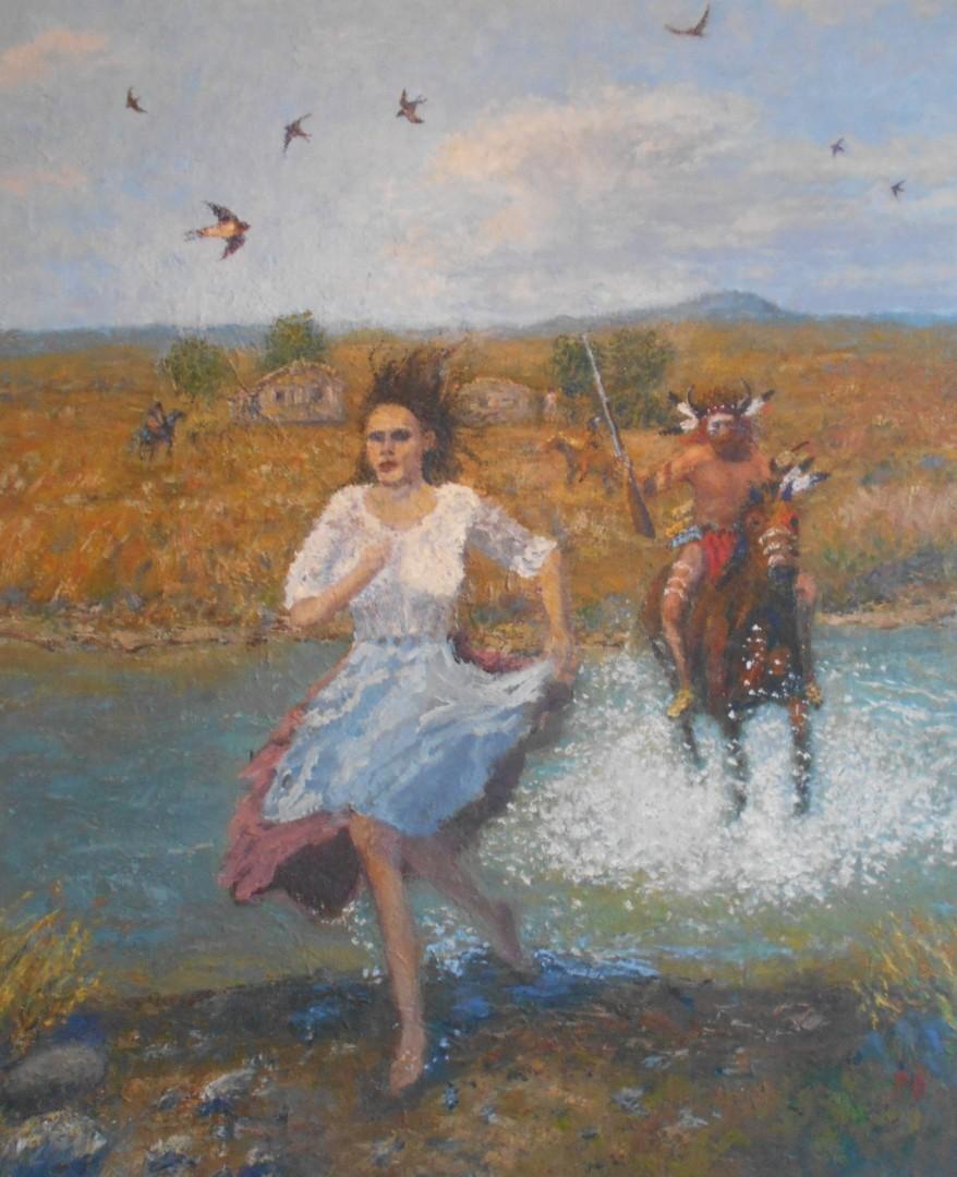 White woman, buffalo country