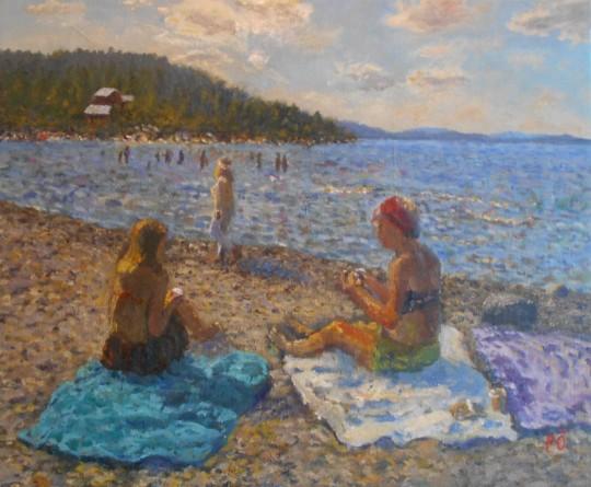 At the beach of Storhamn, midsummer