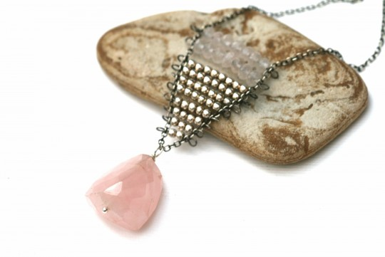 Rose Quartz long necklace