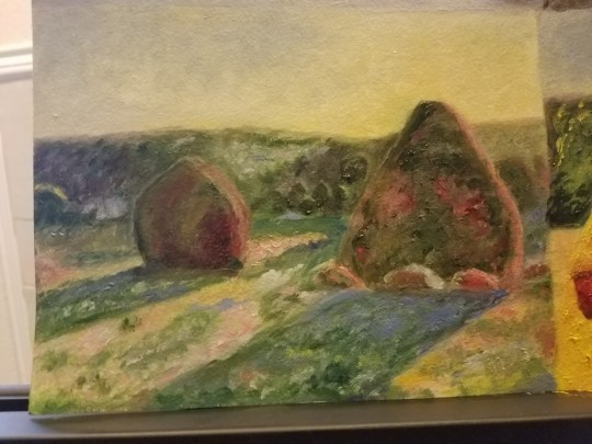 Study of Monet's Haystacks - Morning