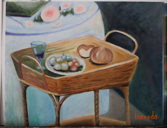 Study of Monet's The Lunch 2