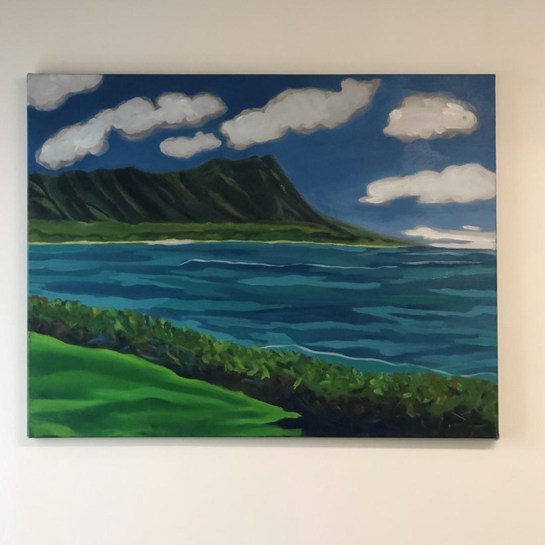 Dreamy Clouds of Diamond Head Hawaii Oahu Waikiki Ocean Beach Clouds Cloudshapes