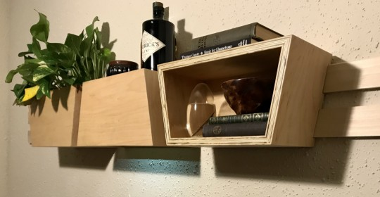 Trapezoidal wall storage
