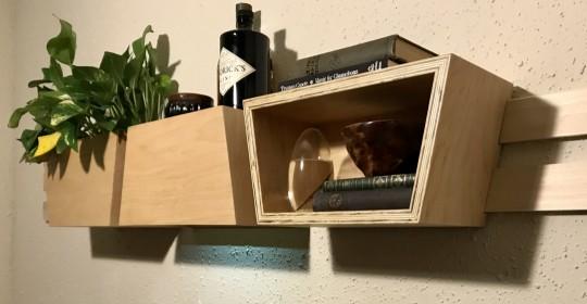Trapezoidal wall storage