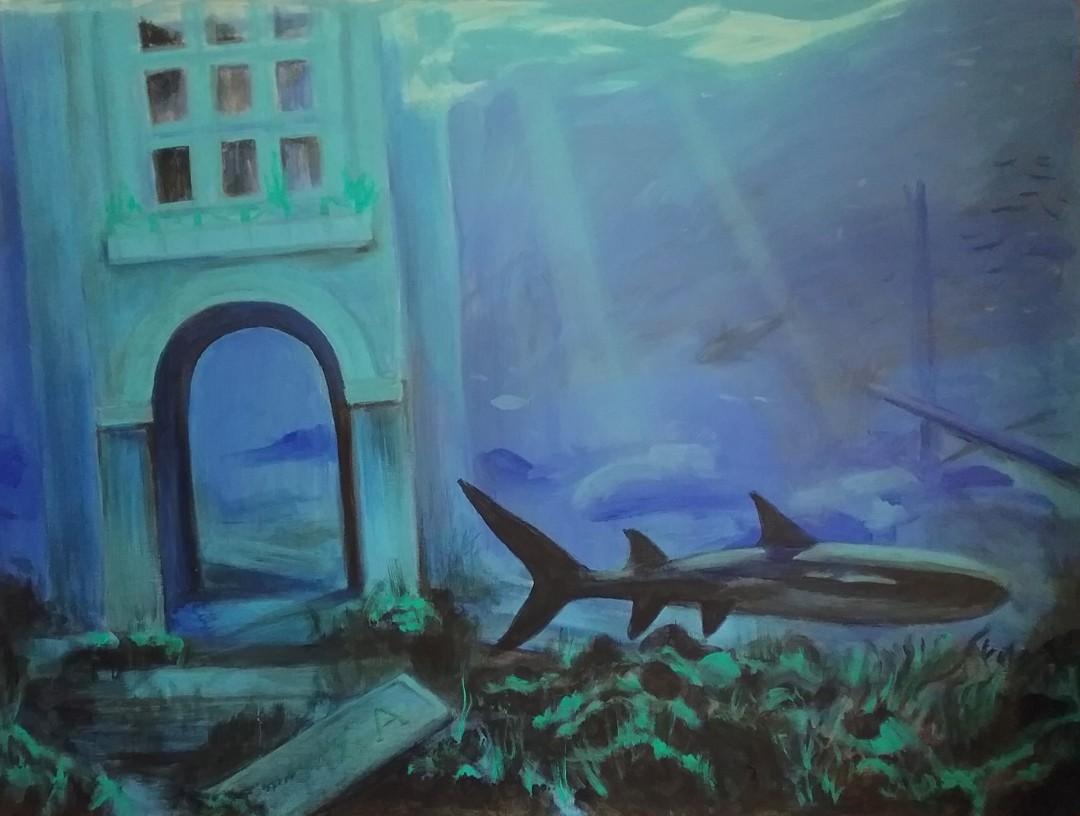 AlohaTower_Umstead.jpg - artwork by Linda Umstead: