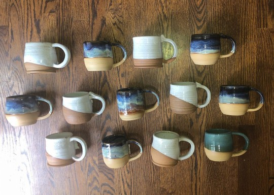 Coffee Mugs- Made with Standard or Lake Erie Clay