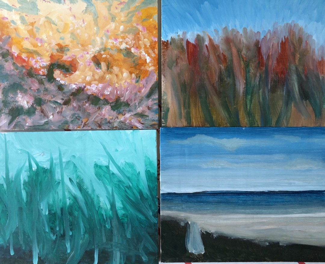 Four corners - artwork by William Stange: