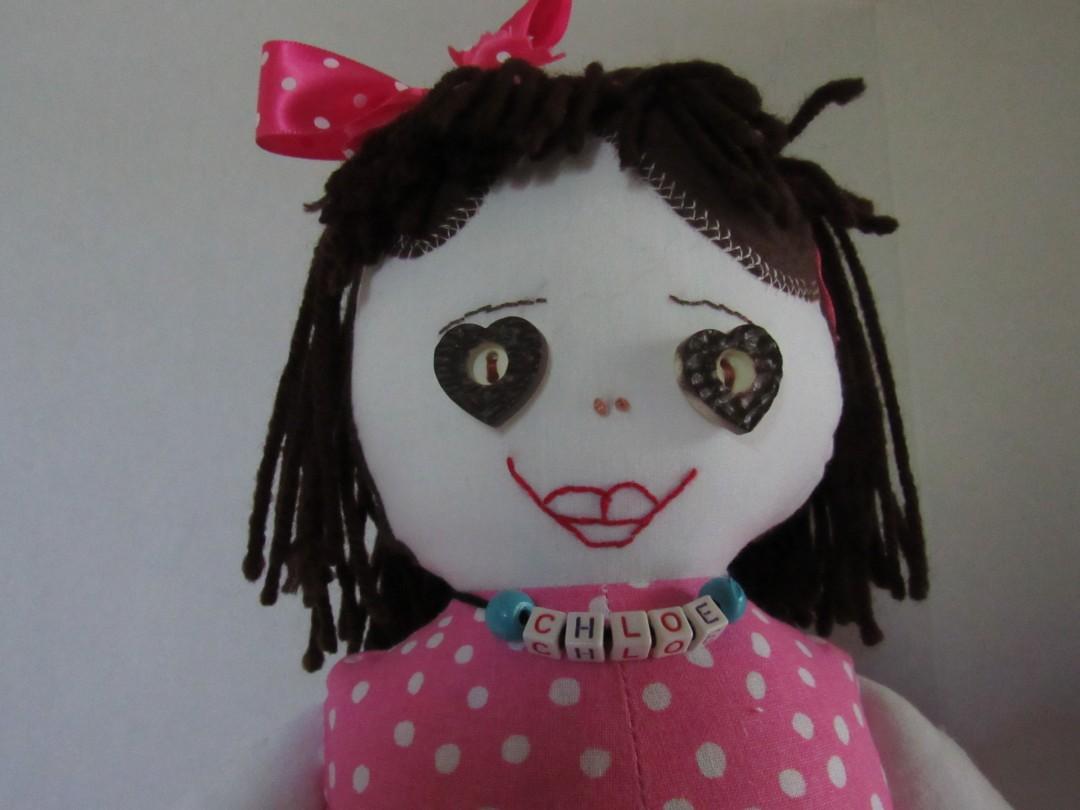 Chloe, 20 inch fabric doll - artwork by Arletha Blanks: