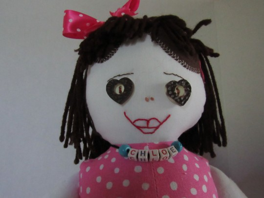 Chloe, 20 inch fabric doll