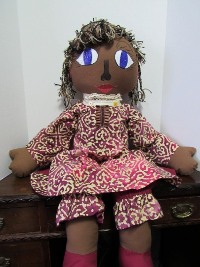 36 inch Handmade Fabric Doll