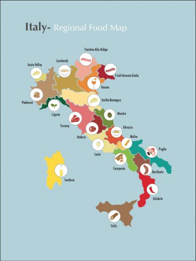 Italy Infographic- Regional Food Map