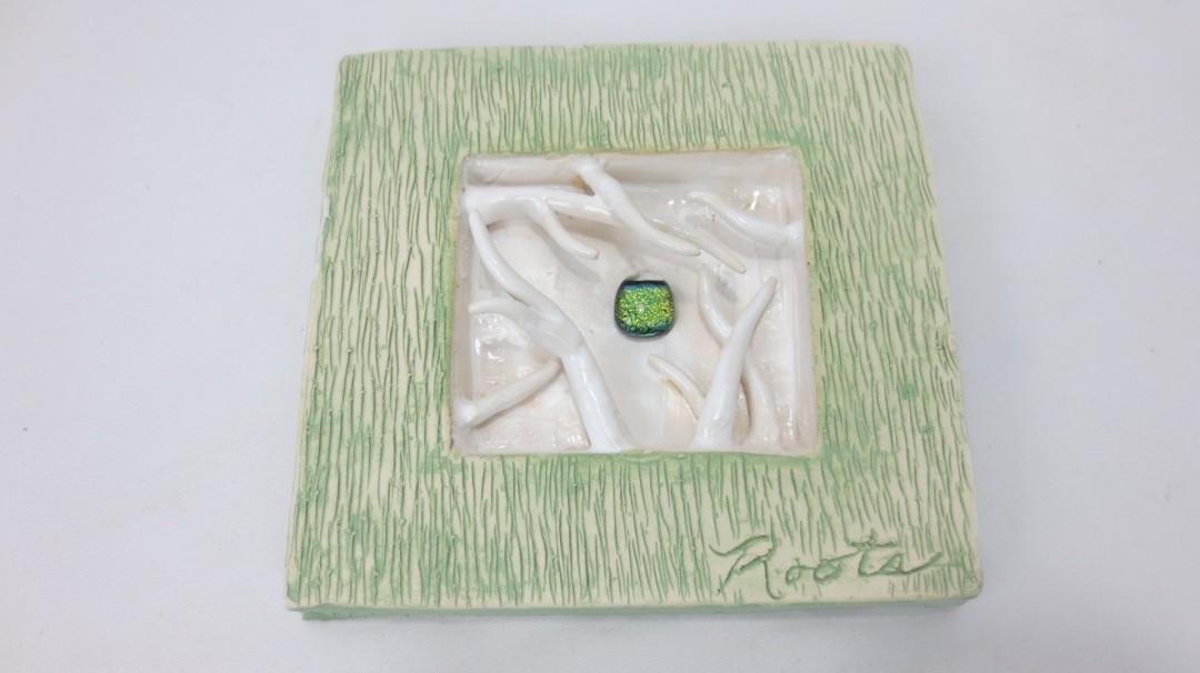 Roots - artwork by Meg Beech:  Botanical, Abstract, Ceramic, Glass