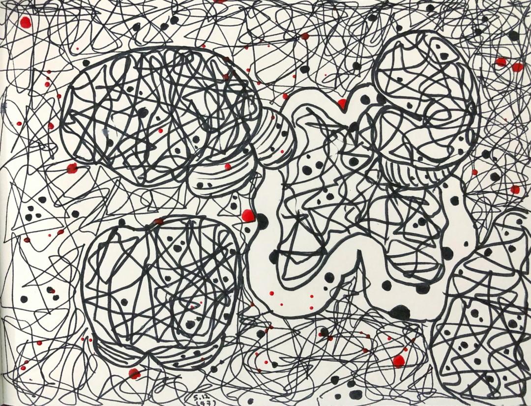 Quarantine Diary1 - artwork by yisha zhao: