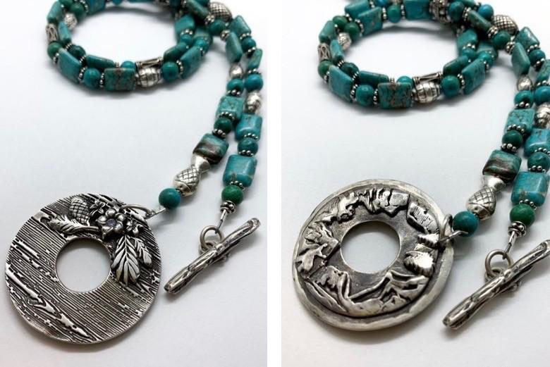 Mountain Fresh fine silver jewelry mountain jewelry silver clay necklace silver mountain necklace