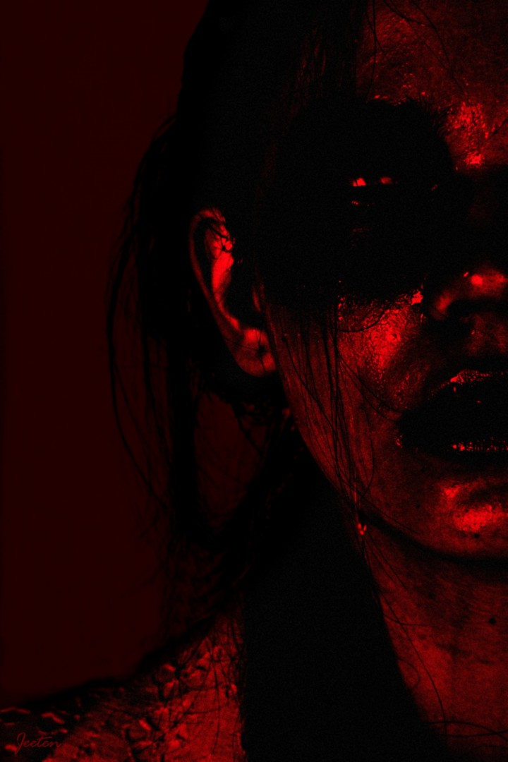 Agony jeetenp03 surreal dark pain sins agony remorse gulit girl red
