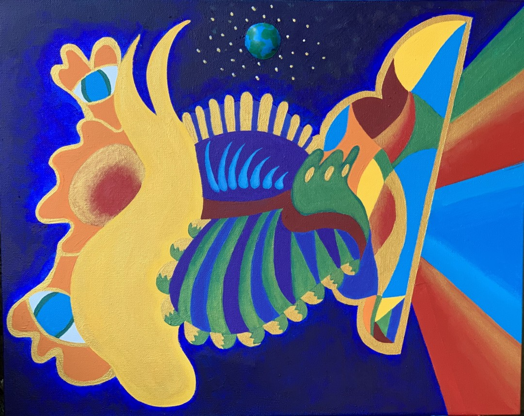 The World is colorful  - artwork by Ryann DeSouza:  Abstract, Abstract, Acrylic, Canvas