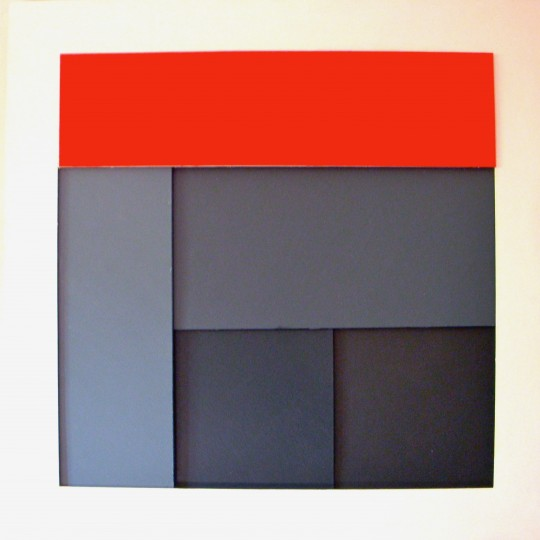 Four grays with red