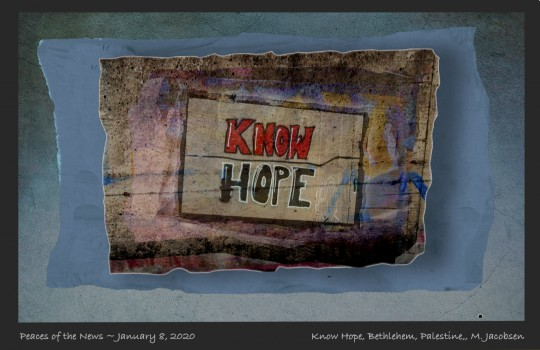 PEACES OF THE NEWS 1/8/2020 - KNOW HOPE