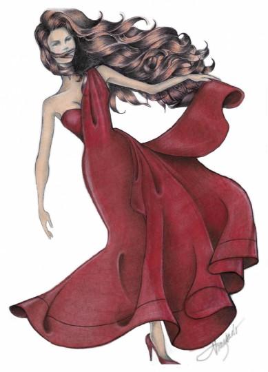 Quarantina Lady in Red
