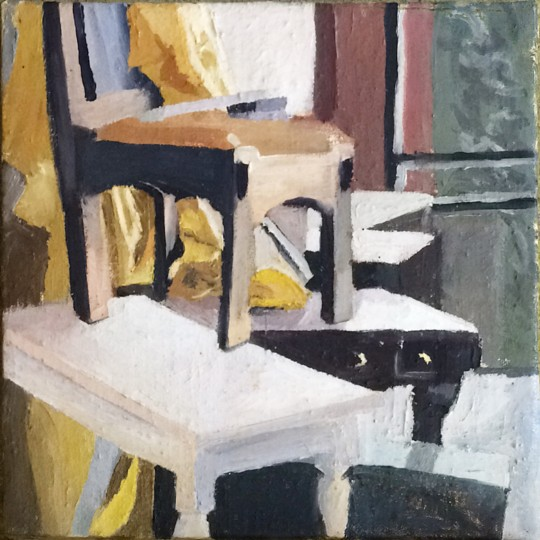 Still Life, tryptich, Chairs