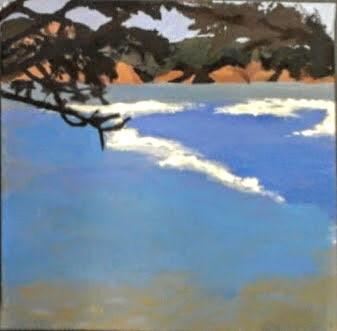 """San Francisco Bay under the Trees"""