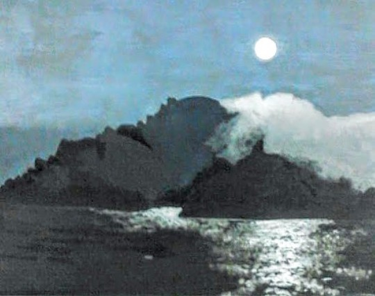 """Moon over Angel Island"""