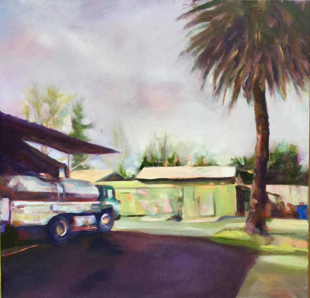 Sonoma Cheese Factory - artwork by Mary Shiff:  Landscape, Oil, Canvas (stretched)