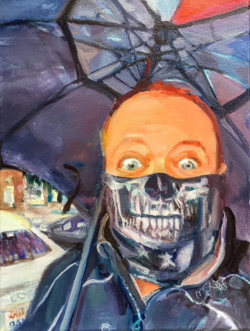 Hard Rain's Fallin' - artwork by Mary Shiff:  Portraits, Oil, Canvas