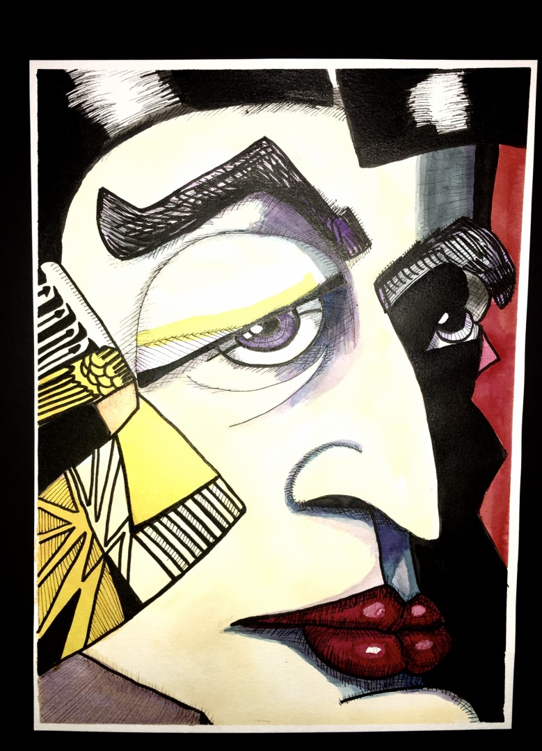 Eyes 1 - artwork by William McIntyre:  Figures, Modern, Pen & Ink, Paper