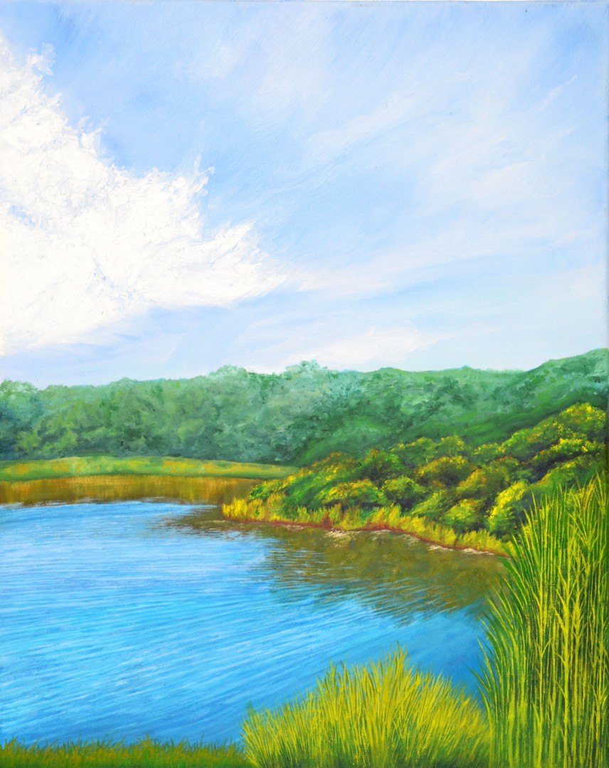 Wind Over Water - artwork by Mason Chapman:  Landscape, Impressionism, Oil, Canvas