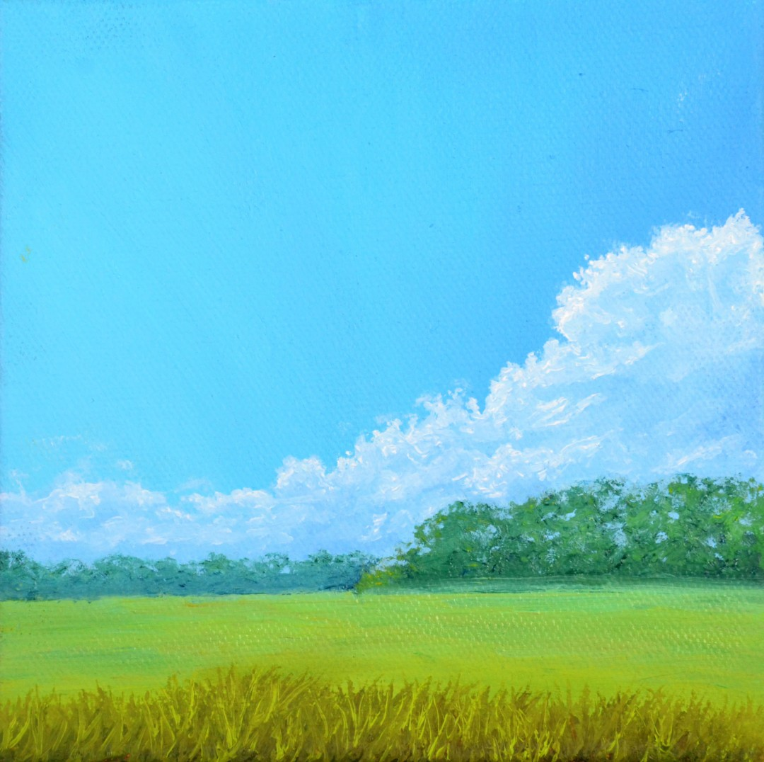 Hazy Visage - artwork by Mason Chapman:  Landscape, Impressionism, Oil, Canvas
