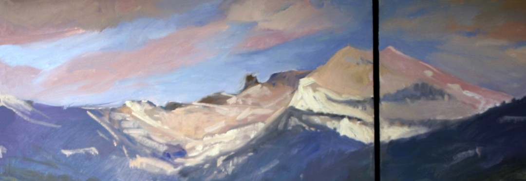 Shadows of Winter, Priest Lake - artwork by Betty (Elizabeth) Jean Billups: