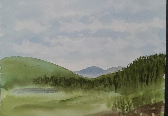 Yellowstone in Watercolor