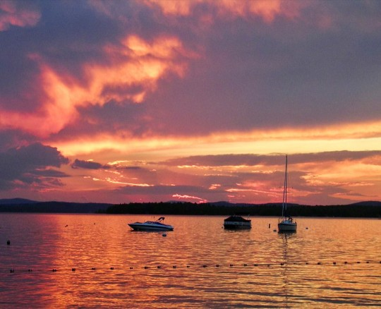 Lake Winnipesaukee sunset