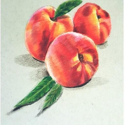 realistic peaches - artwork by yubirna paulino: