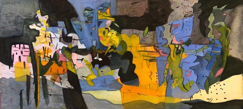 Fissures - artwork by Erica Adams: #watercolor, #abstraction Abstract, Modern, Watercolor, Watercolor Paper