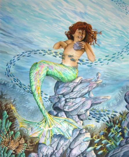 Mermaid 11x14 Art PRINT ONLY