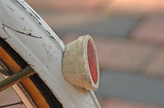 Rear reflector of old bike