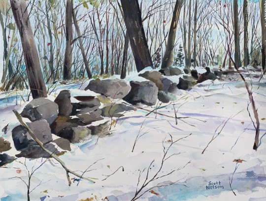 Winter Wall Watercolor
