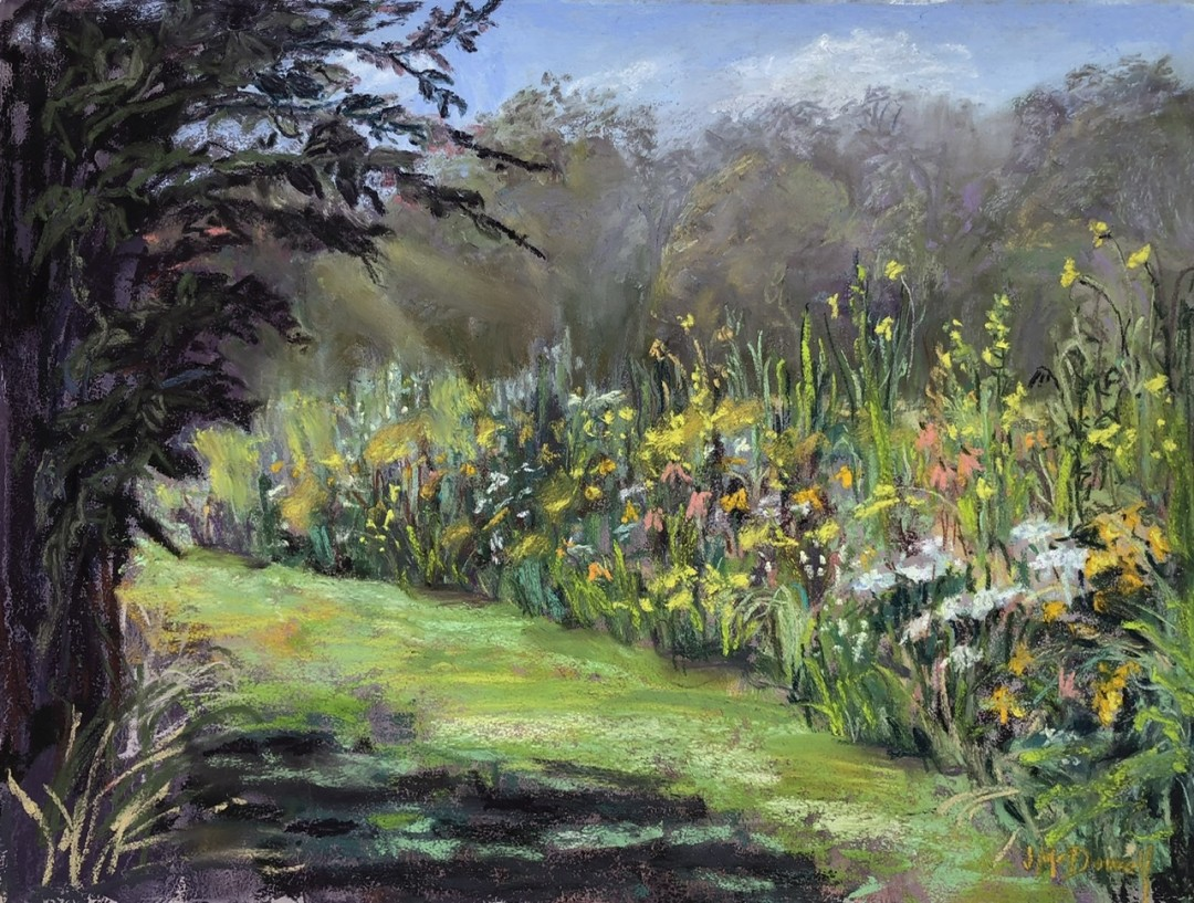 Edge of the Prairie - artwork by Jane McDowell:  Nature, Impressionism, Pastels, Paper