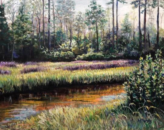 Marsh Lavender and Evergreen