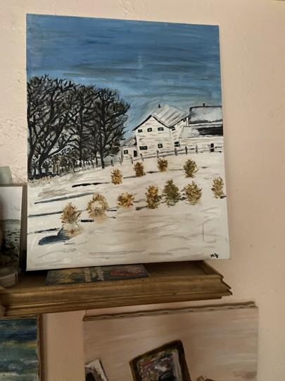 Winter farm work