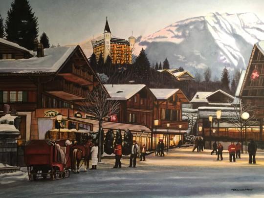 Swiss village winter
