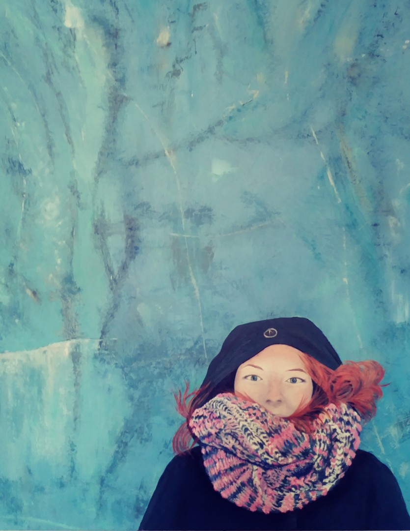Girl on a Frozen Pond - artwork by Holly Sutherland:  Figures, Realism, Oil, Canvas