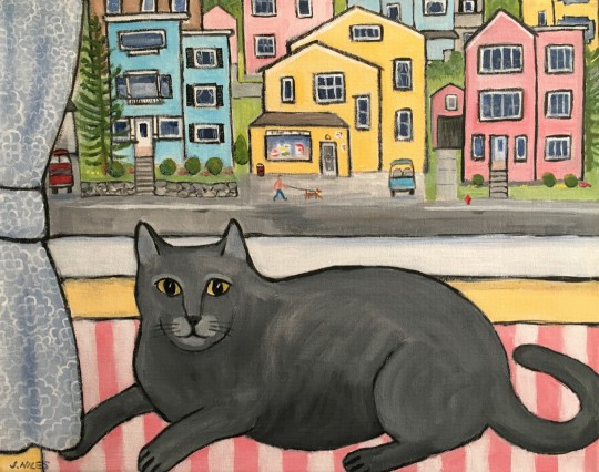 Gray Window Cat
