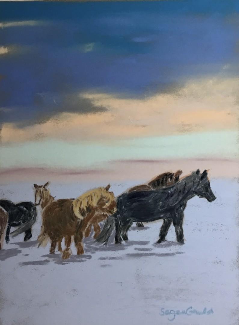 Iceland Sunset - artwork by Barbara Segen-Gould: