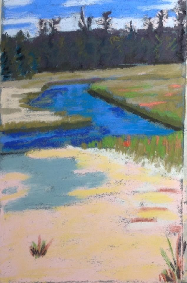 Sulfur Flat - artwork by Barbara Segen-Gould: